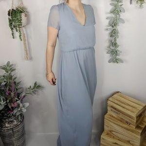 NWT WAYF Anna tie back gown blue wedding 0933